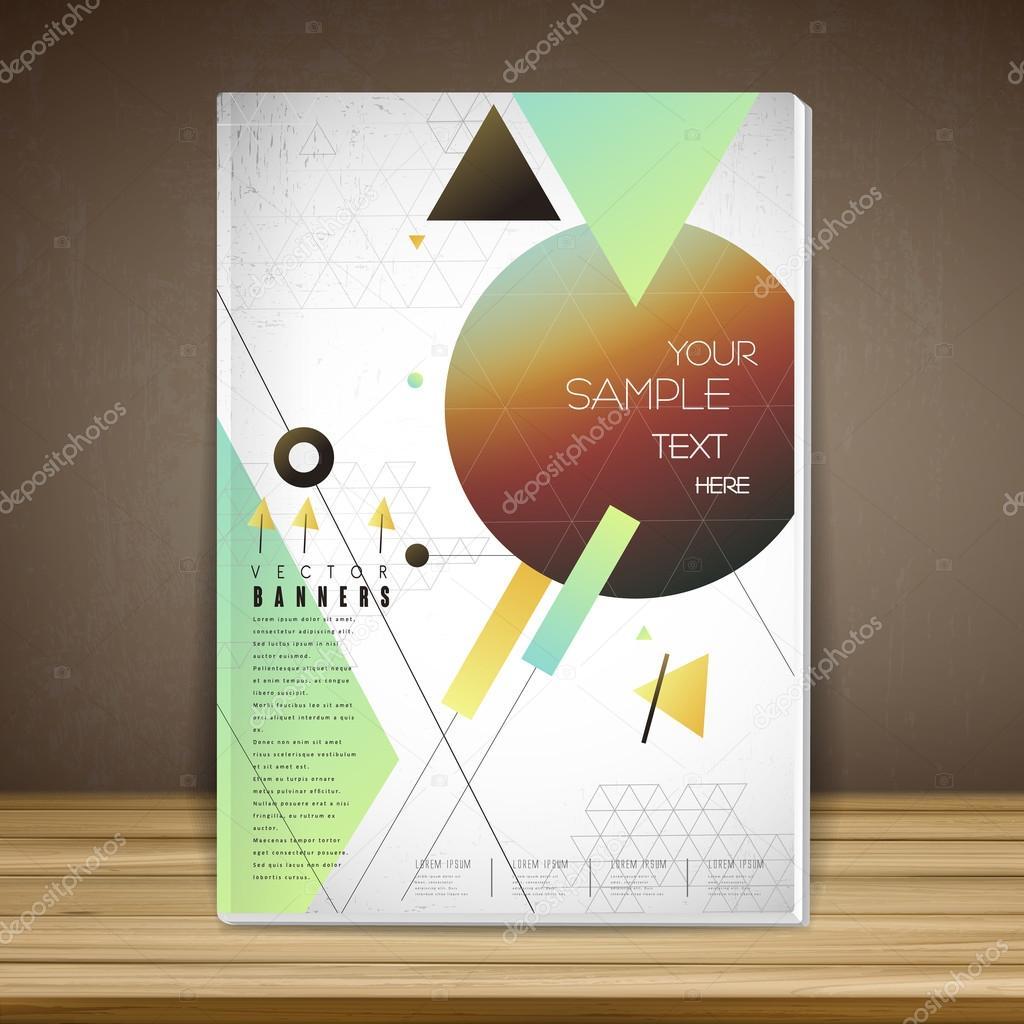geometrischen Buch Cover Broschüre Vorlage — Stockvektor © kchungtw ...