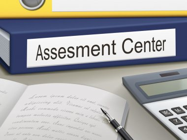 Folder with  assesment center documents