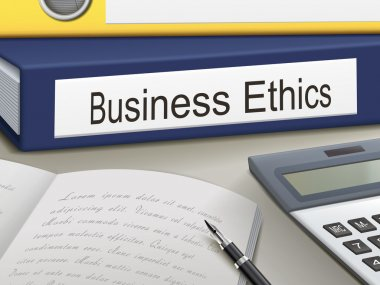 Folder with business ethics documents
