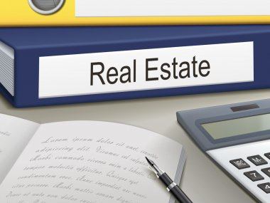 Folder with real estate  documents