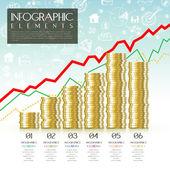 disegno del modello infographic concetto finanziario