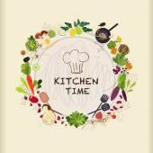 Fotografia tavolo da cucina piatto per la cottura in design piatto