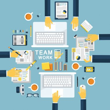 teamwork concept illustration in flat design