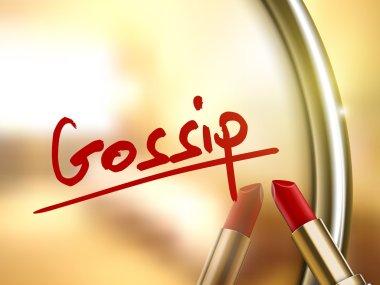 Gossip word written