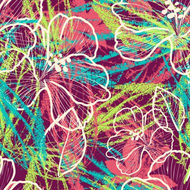 modern colorful floral seamless pattern