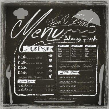 vintage restaurant menu design