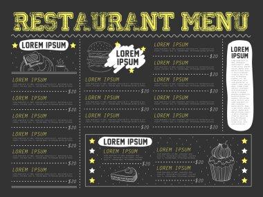 attractive restaurant menu design