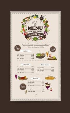 adorable restaurant menu design