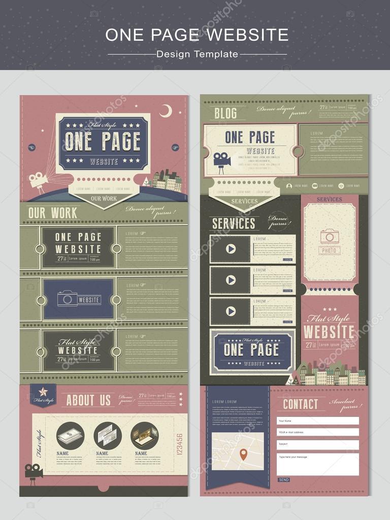 Theater-Konzept einer Seite Webseite Entwurfsvorlage — Stockvektor ...