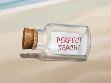 perfect beach message in a bottle