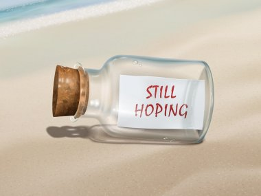 still hoping message in a bottle