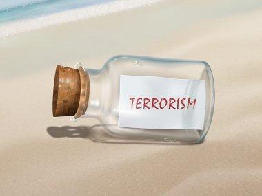 terrorism message in a bottle