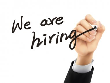 we are hiring written by 3d hand