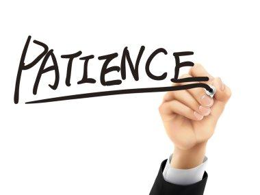 patience written by 3d hand