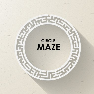 elegant circular maze with shadow
