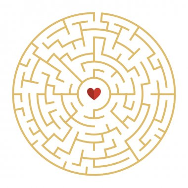 circular maze with heart element