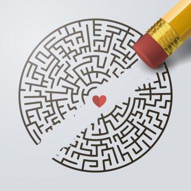 incomplete circular maze