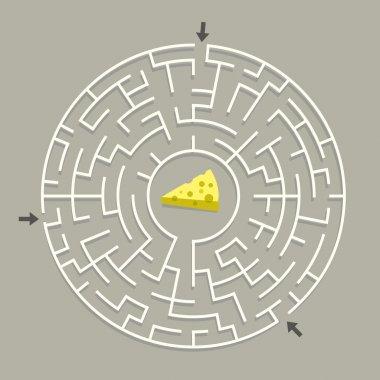 lovely circular maze with cheese