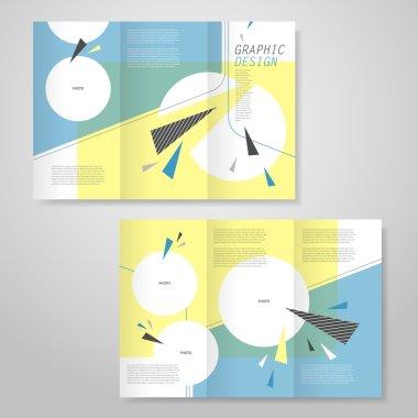 trendy tri-fold brochure template design