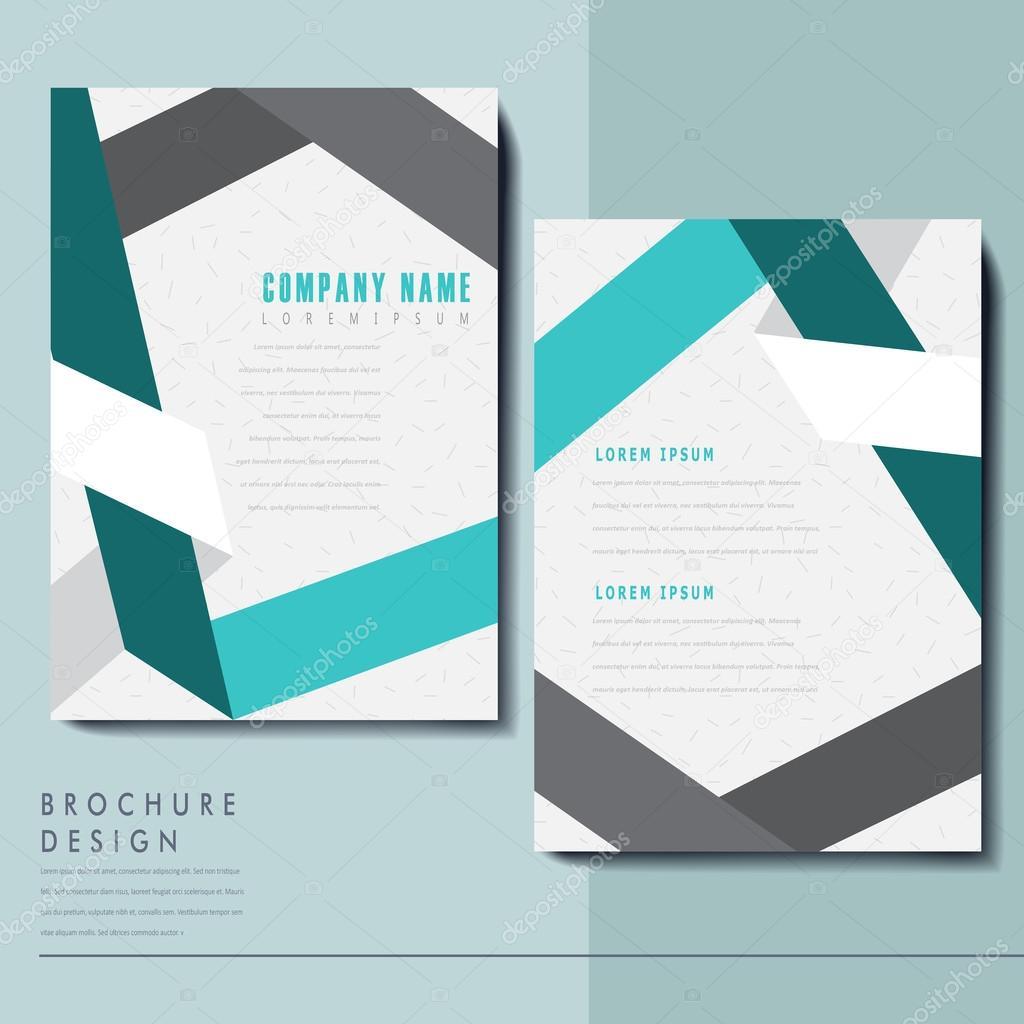Elegant Brochure Template Design Stock Vector Kchungtw 68539485