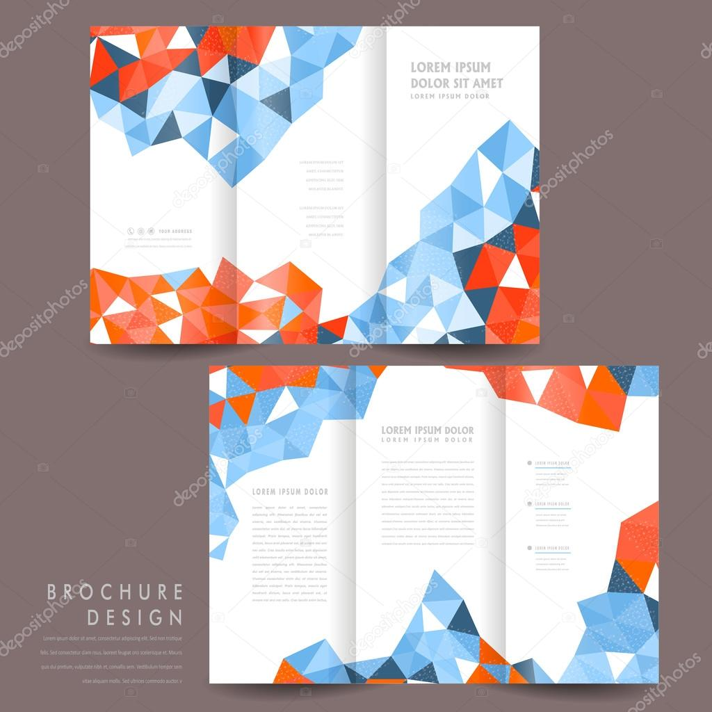 attractive brochure designs - attractive tri fold brochure template design stock