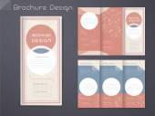 Anmutige dreifach gefaltete Broschüre Vorlagendesign
