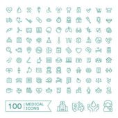 Photo 100 medical icons set