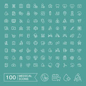 Photo lovely 100 medical icons set