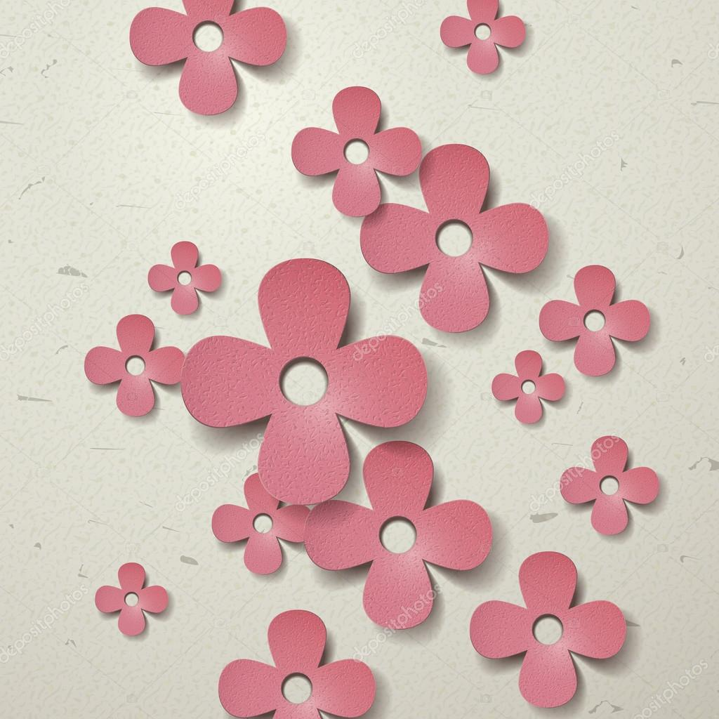 Lovely Paper Flowers Cut Out Background Stock Vector Kchungtw