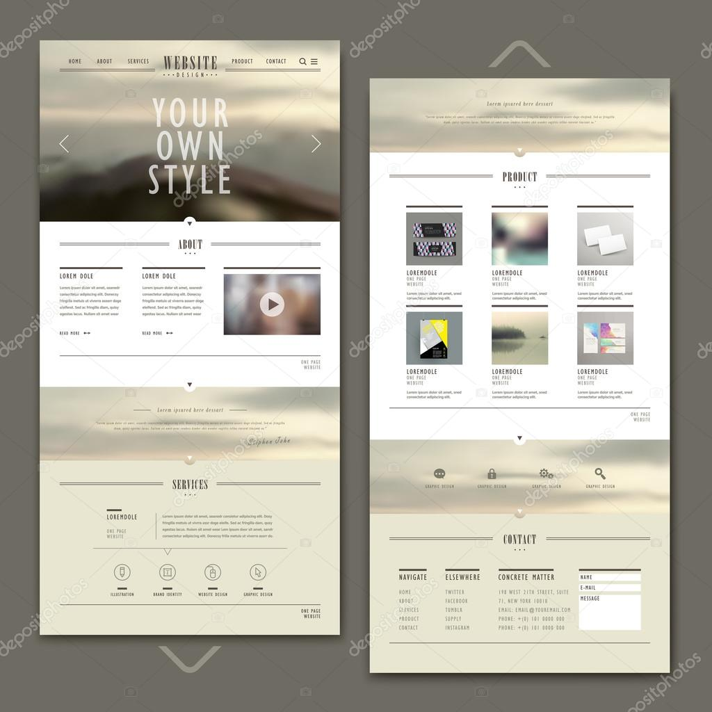 attractive one page website template design