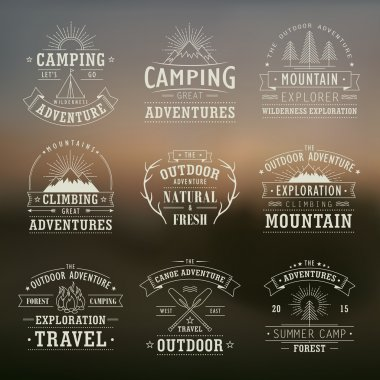wilderness and nature exploration emblems