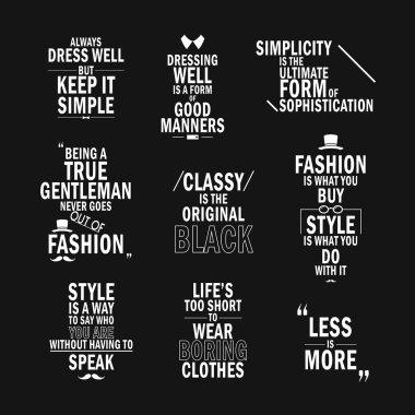 fashion attitude quotes set