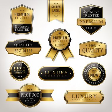 luxury premium quality golden labels collection