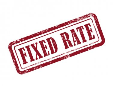 stamp fixed rate in red