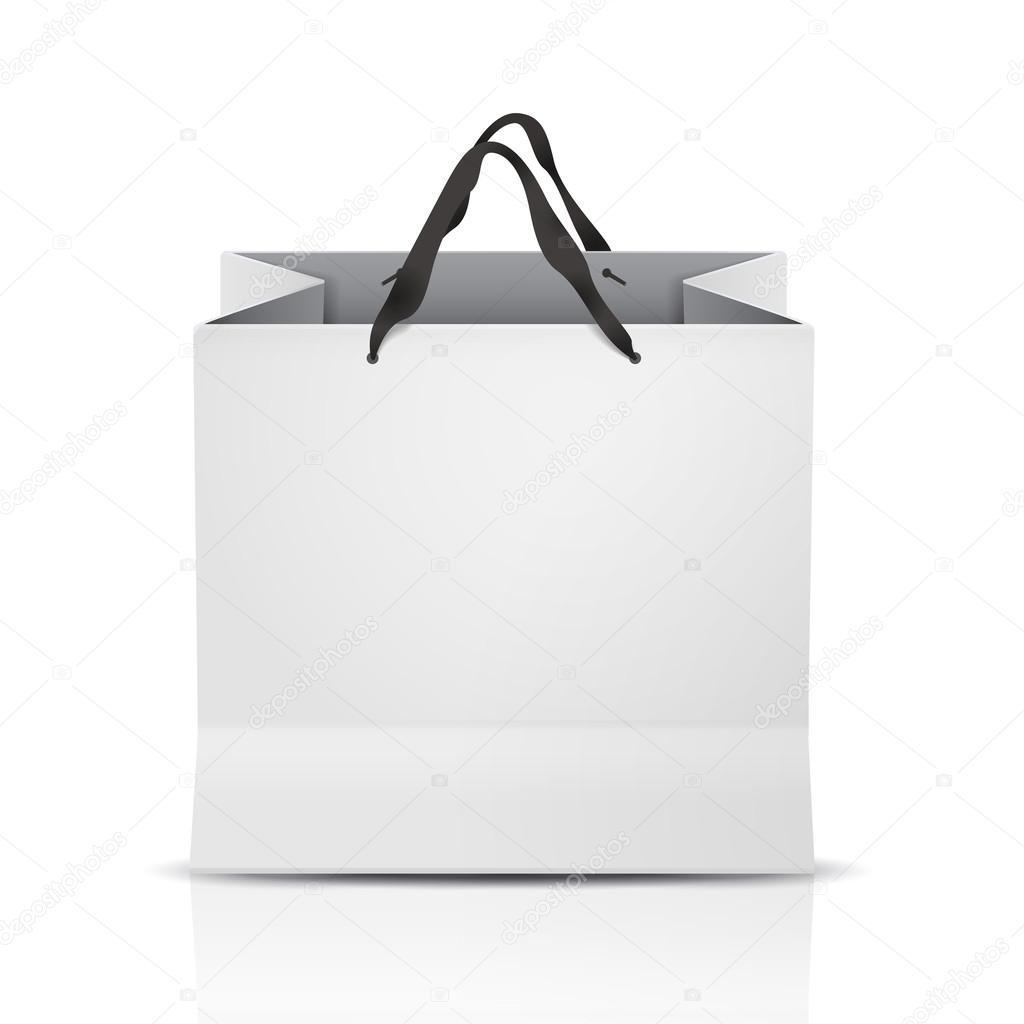 white shopping bag template stock vector kchungtw 73250731