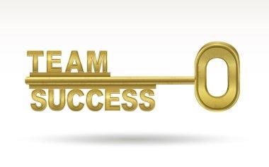 team success - golden key