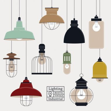 retro ceiling lamps collection