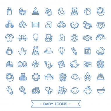 lovely baby related icons collection
