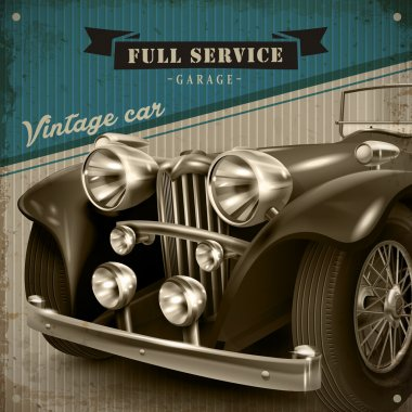 attractive retro car