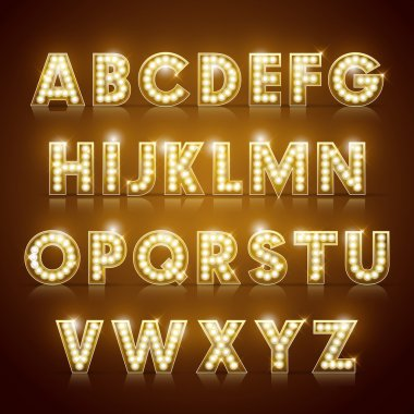 modern lighting alphabet set