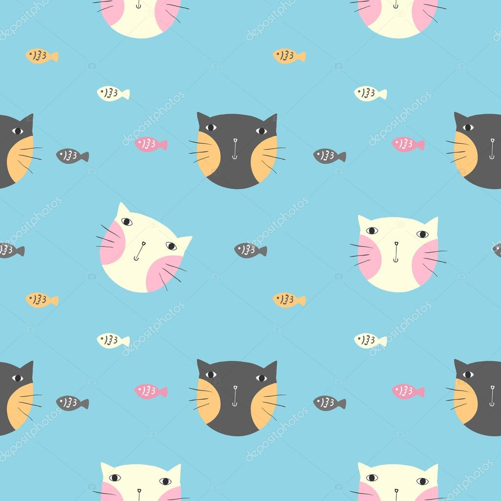 Фон нарисованные коты