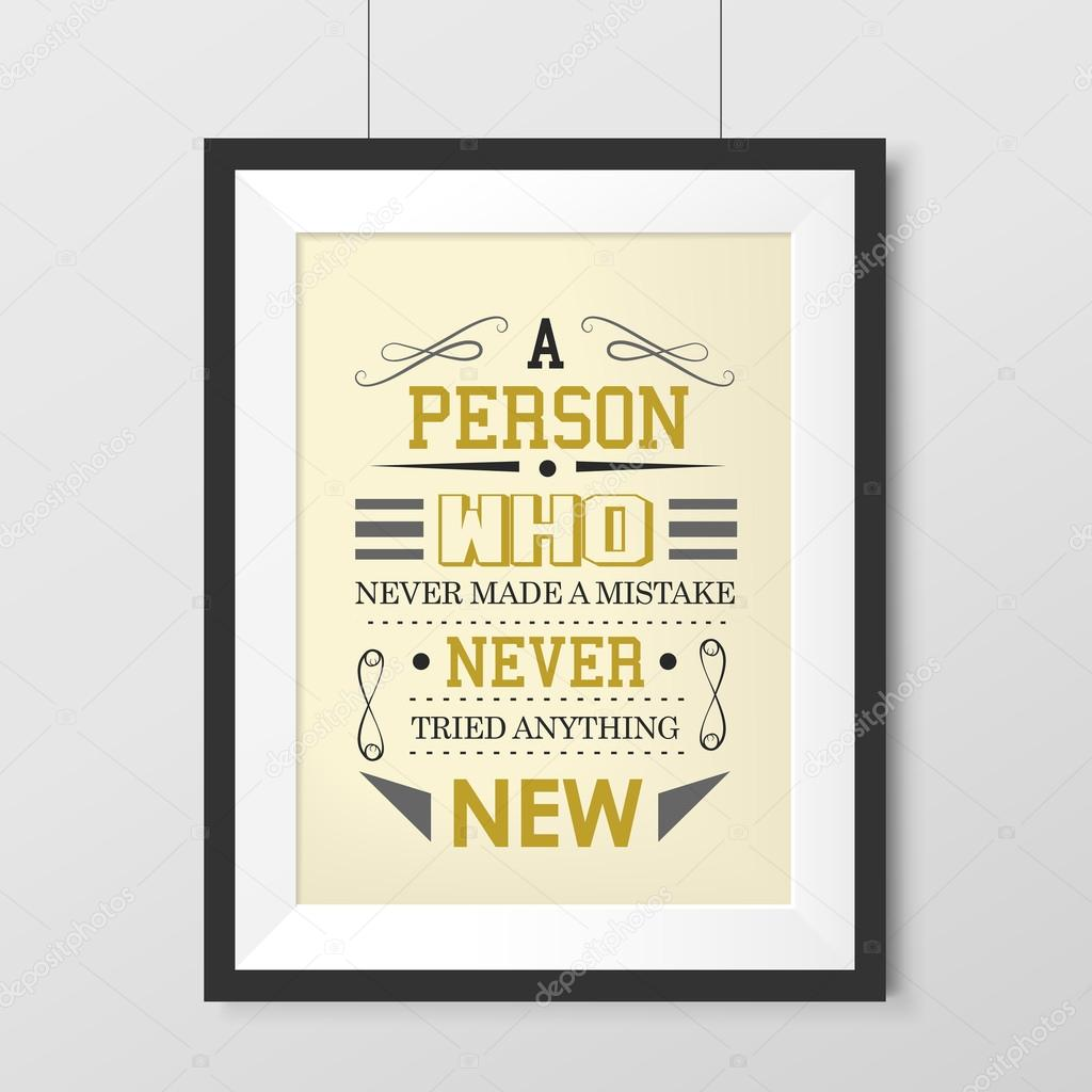 Poster Quotes About Life Life Quotes Poster Anything New Poster  Stock Vector © Kchungtw