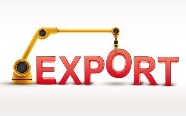 industrial robotic arm building EXPORT word