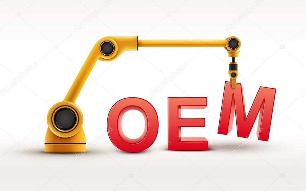 industrial robotic arm building OEM word