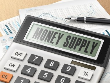 calculator with the word money supply