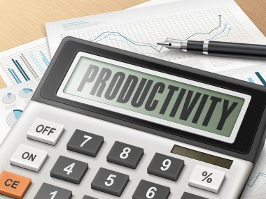 calculator with the word productivity
