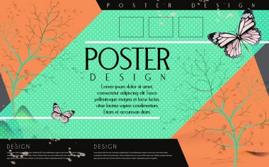 attractive poster template design