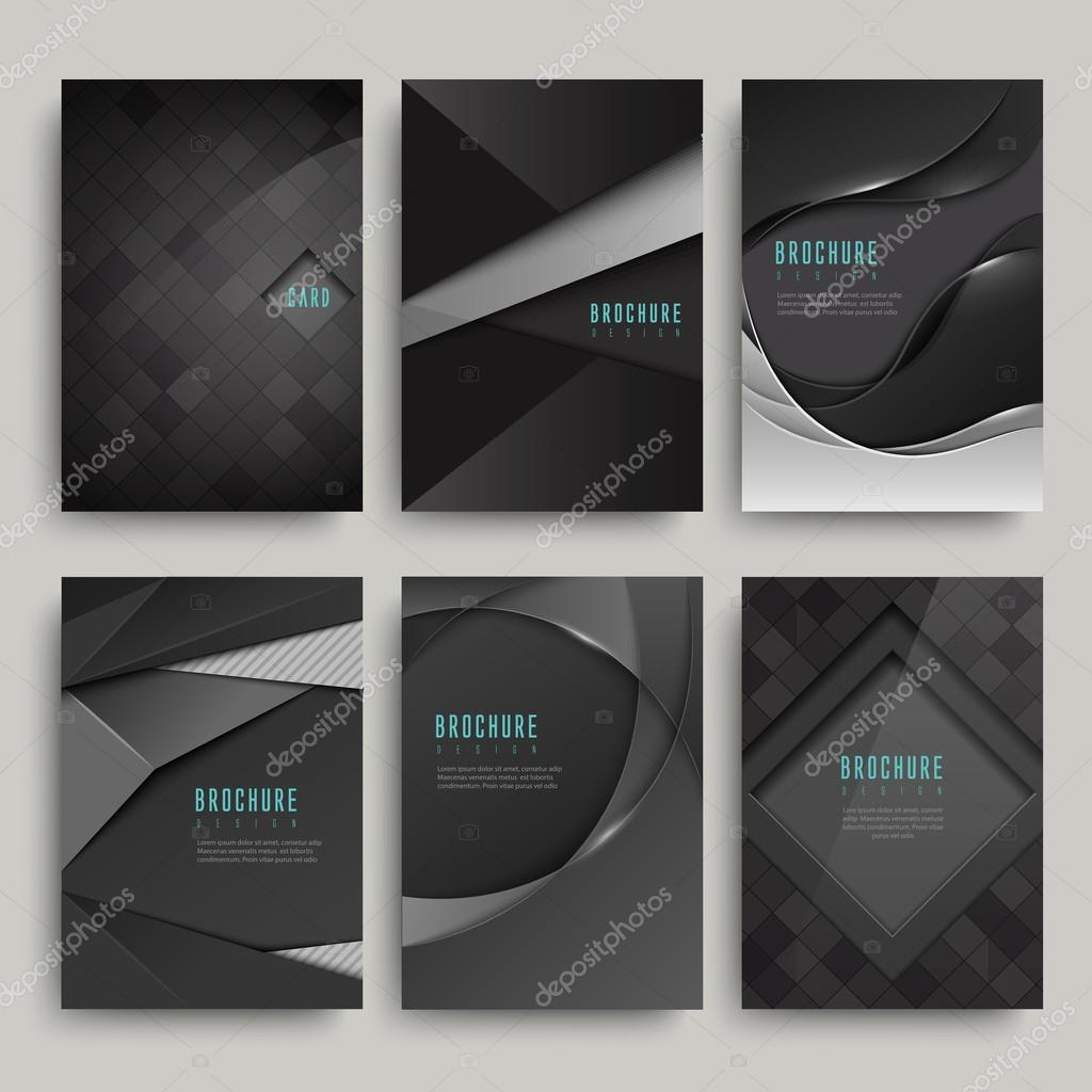 modern black brochure set