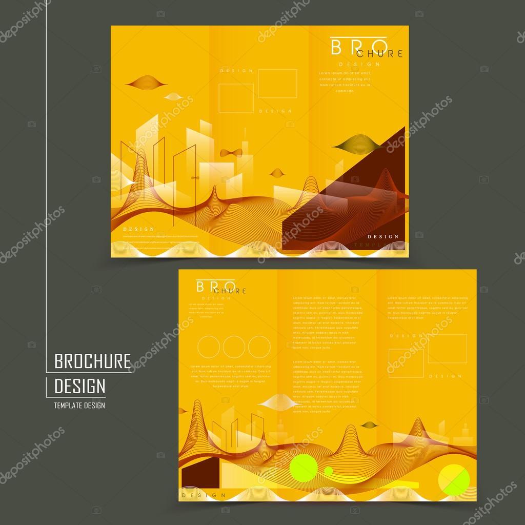 futuristic style tri fold template design ストックベクター