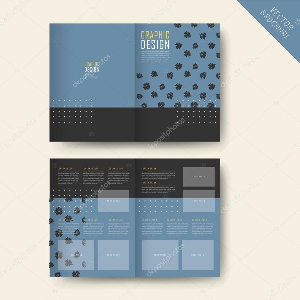 elegant half fold template design stock vector kchungtw 77059477